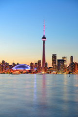 Printed roller blinds Canada Toronto skyline