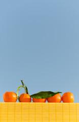 Vertical shot of tangerine line