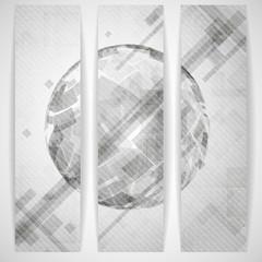 Gray Globe Design.