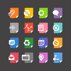 Different file types icons set