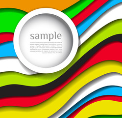 Abstract colorful lines background with bubble