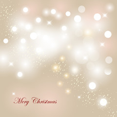 New Year Abstract Bokeh Background Light and stars vector