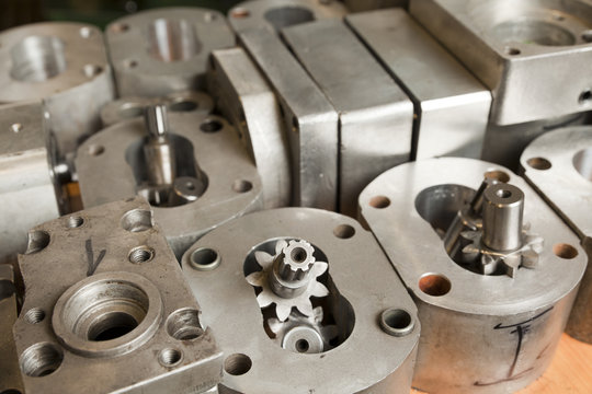 metal parts of hydraulic machines