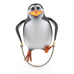 Penguin skips