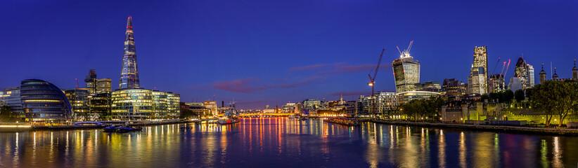 Panorama Of London By Night