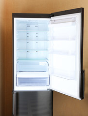 Two door gray refrigerator
