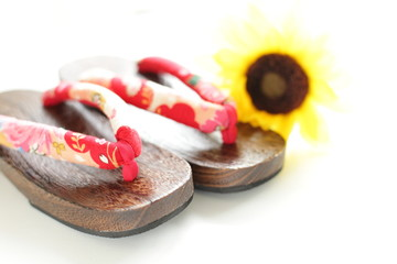 Japanese summer fashion goods, wooden sandals