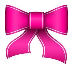 pink christmas ribbon bow