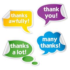 Obraz Thank you - bubbles with thanks - fototapety do salonu