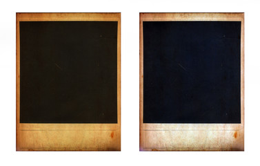 Pair of two old instant photo frames