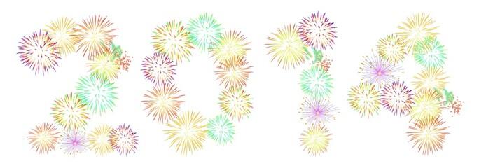 2014 Feuerwerk weißer BG [Gr kw-de]