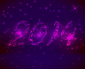 Purple new year background