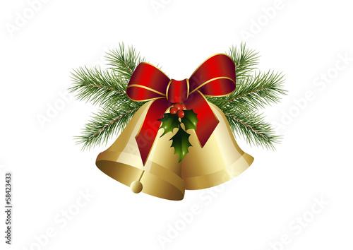 tannengr n und weihnachtsglocken stockfotos und. Black Bedroom Furniture Sets. Home Design Ideas