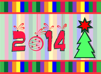 2014 year greeting card