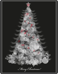 Background with a Christmas tree.