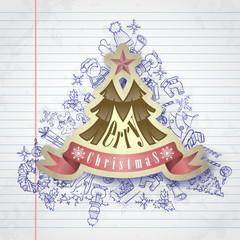 Christmas Sticker.