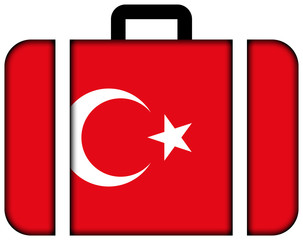 Suitcase with Turkey Flag