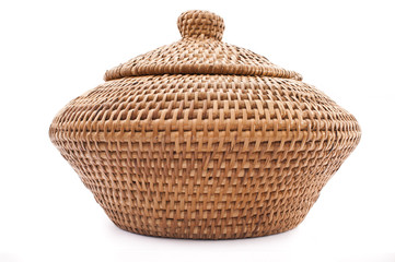 Rattan Basket with Lid