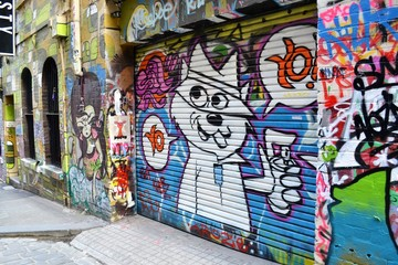 street art and graffiti in the city