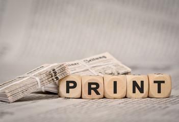Print -Zeitungsstapel