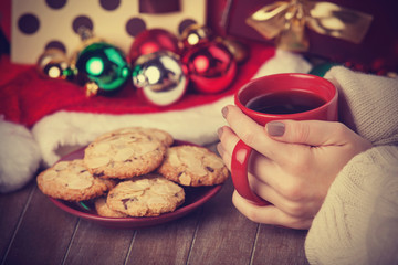 Cookies, cup of coffee