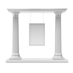Columns with white frame