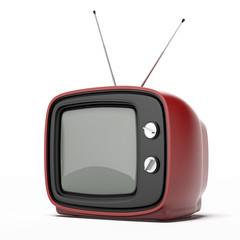 Vintage red tv