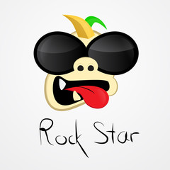 rock star. funny illustration