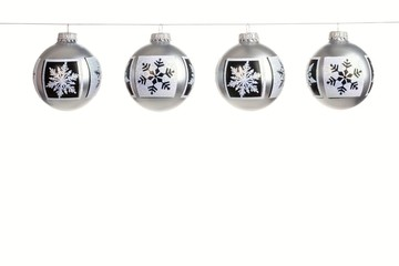 Silver Christmas Ornaments With Snowflakes