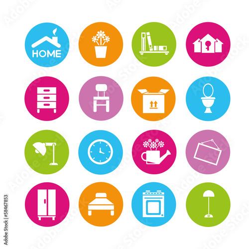 Home Design Icons Interior Furniture