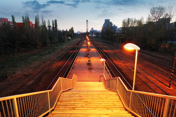 Railroad train platform - stair