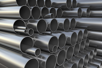 Warehouse metal pipes