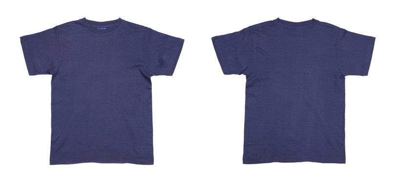Men's blue T-shirt.