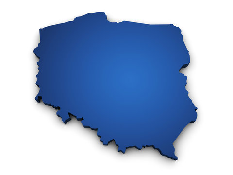 Map Of Poland 3d Shape