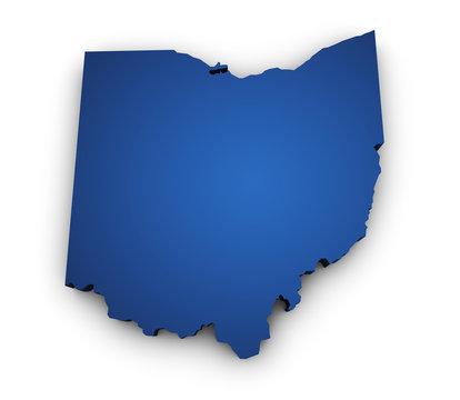 Map Of Ohio 3d Shape