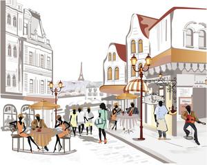 Fototapeta Series of street views in the old city obraz