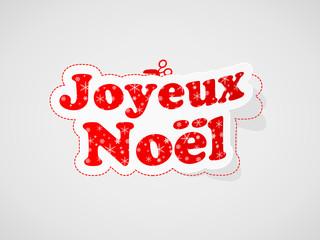 """Etiquette """"JOYEUX NOEL"""" (carte de noël joyeuses fêtes message)"""