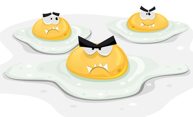 Angry Fried Chicken Eggs