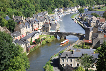 Dinan on the Rance, Brittany, France Wall mural