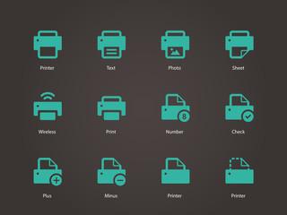 Printer icons.