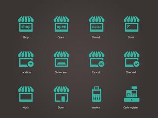 Shop icons.