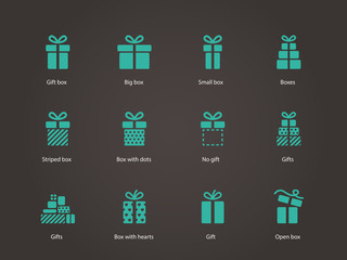 Gift icons.