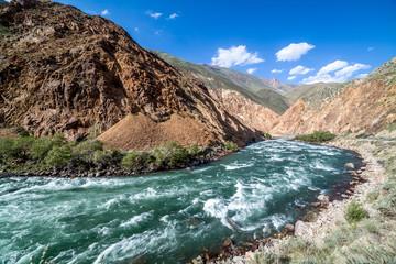 Wall Mural - Kekemeren river in Tien Shan mountains, Kyrgyzstan