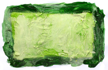 art daub watercolor green background abstract paper texture isol