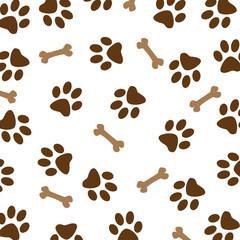 Brown Dog Paw Pattern