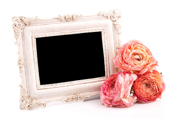 intage frame with rose