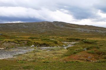 Photo sur Aluminium Pôle Unterwegs in schwedisch Lappland