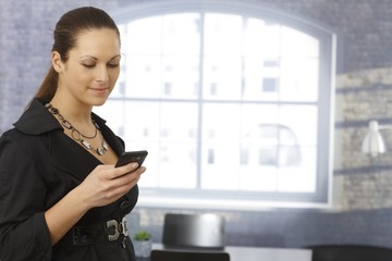 Businesswoman using mobile