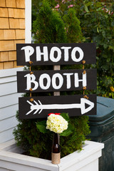 Photo Booth Wedding Sign