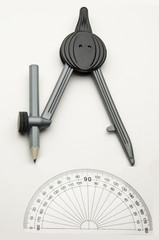 Drawing Compass and Protractor